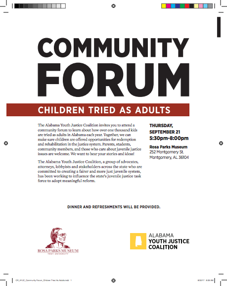 Community forum flyer