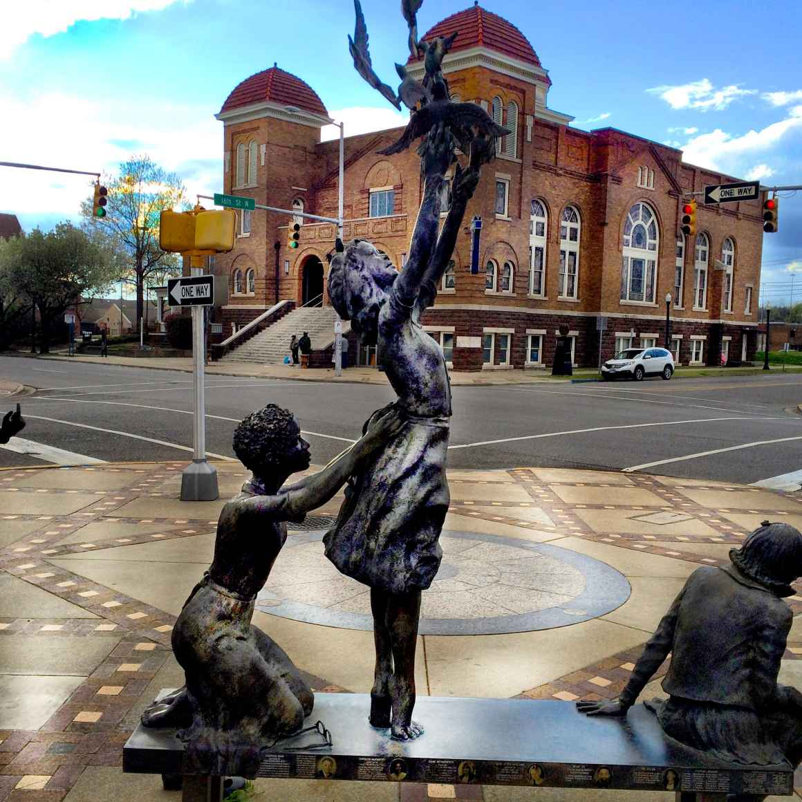 4 girls statue in front of the 16th Street Baptist Church