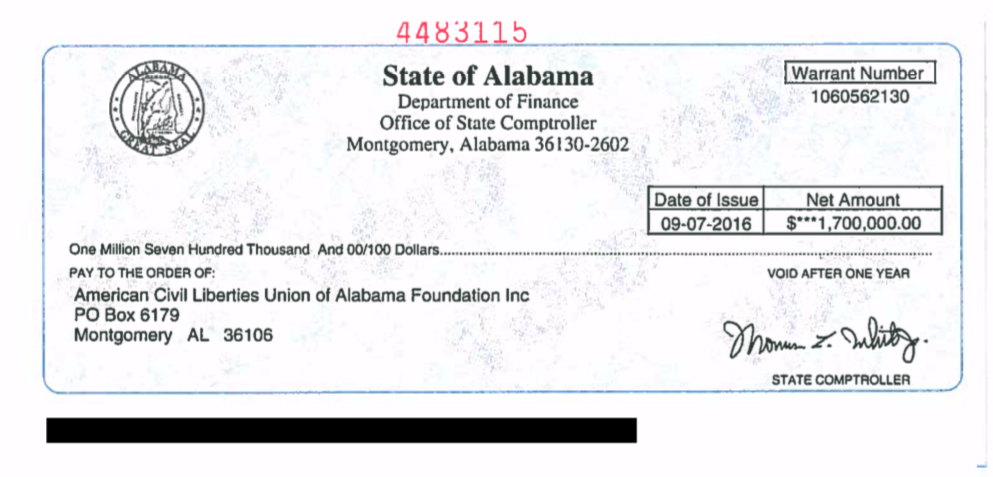 image of check from state