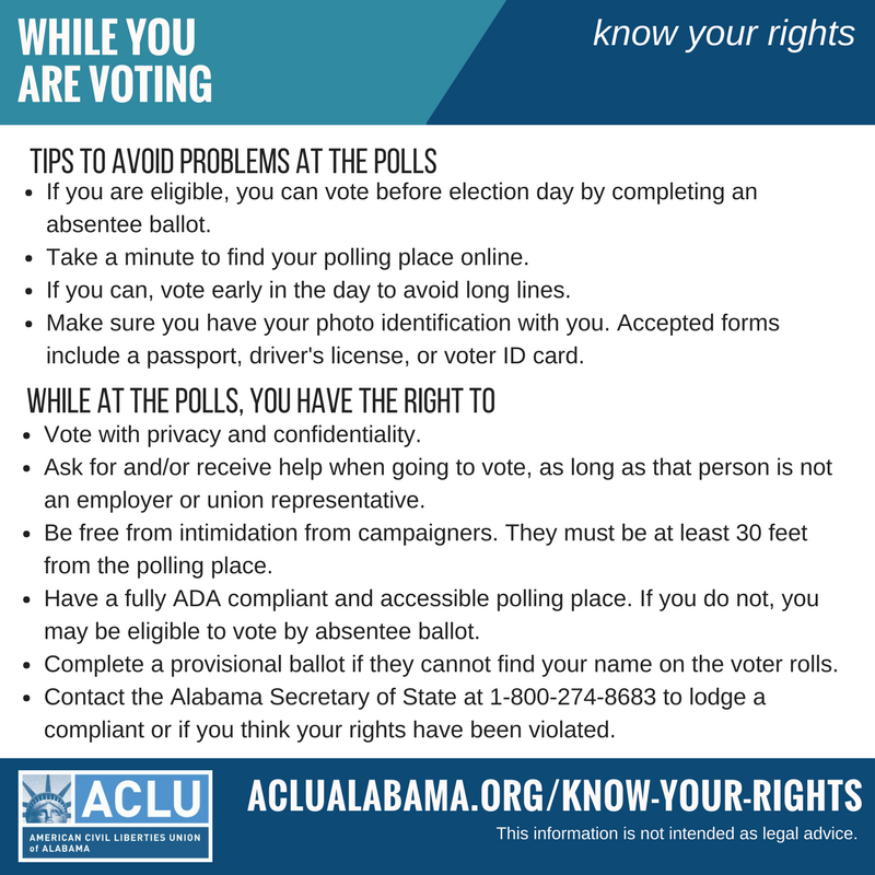 Know your right while you are voting infographic