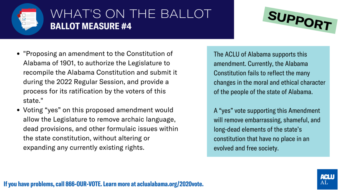 aclu of als's position on ballot measure #4