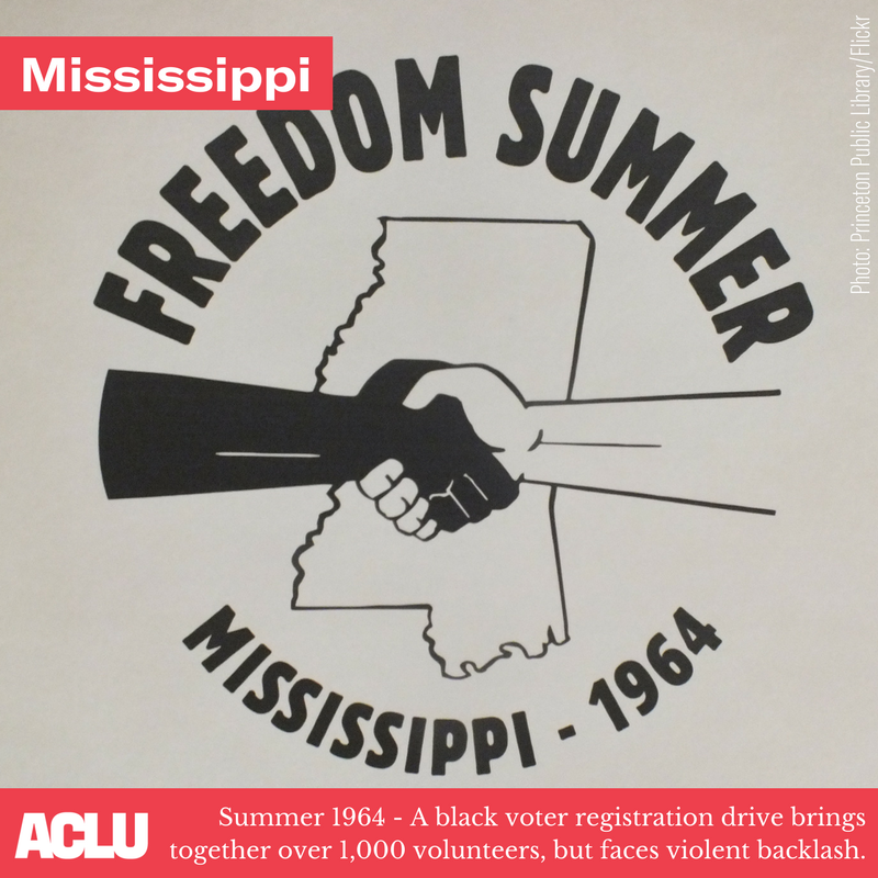 freedom summer logo in mississippi