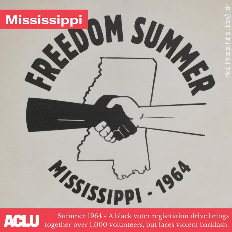 logo dell'estate della libertà nel Mississippi