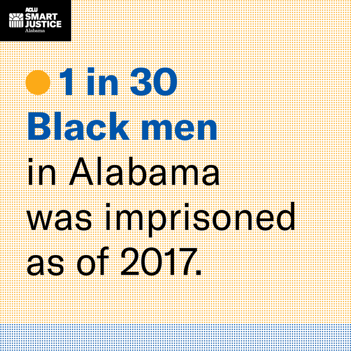 1 in 30 black men in alabama was imprisoned