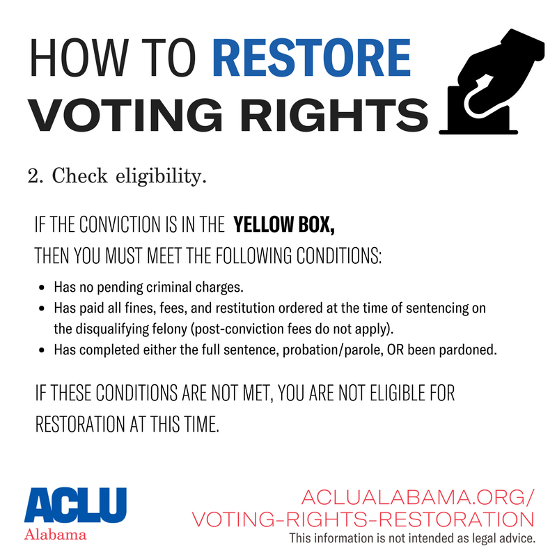 how to restore voting rights step 2