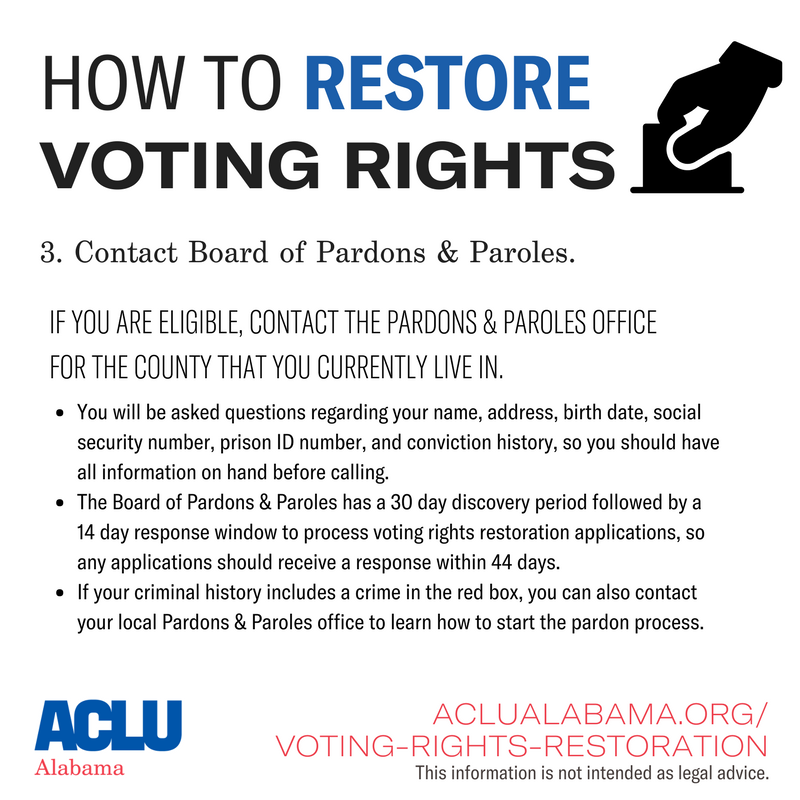 how to restore voting rights step 3