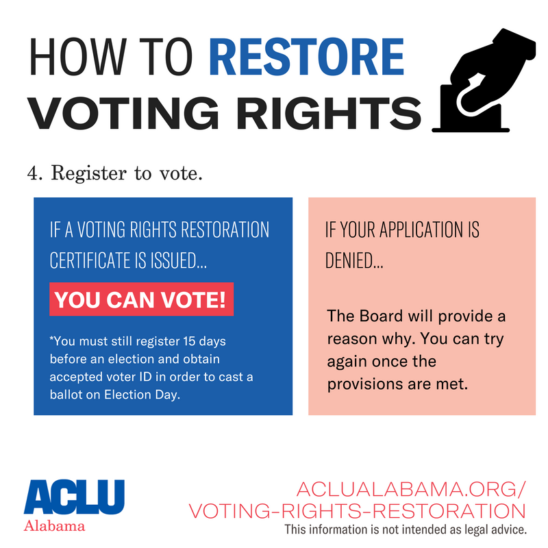 how to restore voting rights step 4