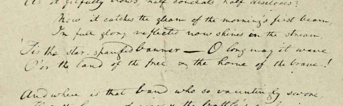original manuscript of anthem