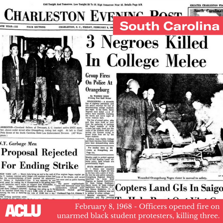 Charleston newspaper front page