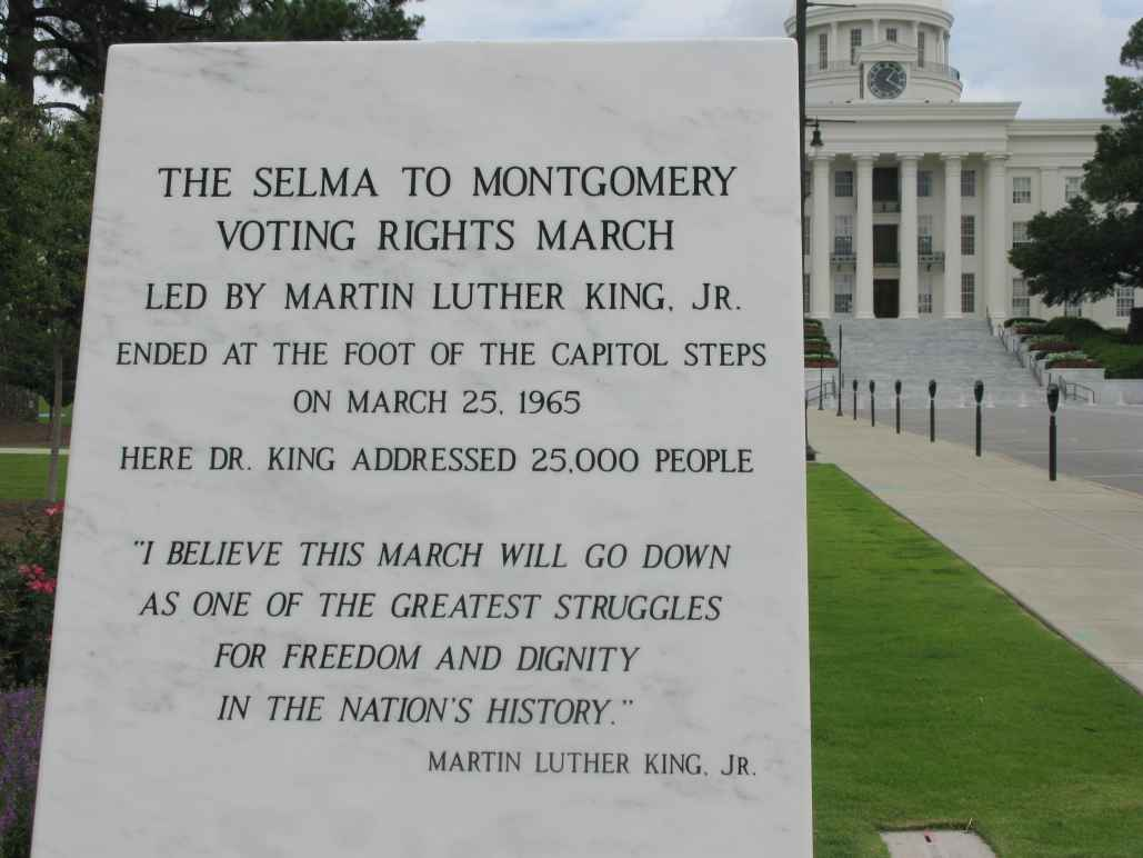 Selma to Montgomery Voting Rights March monument