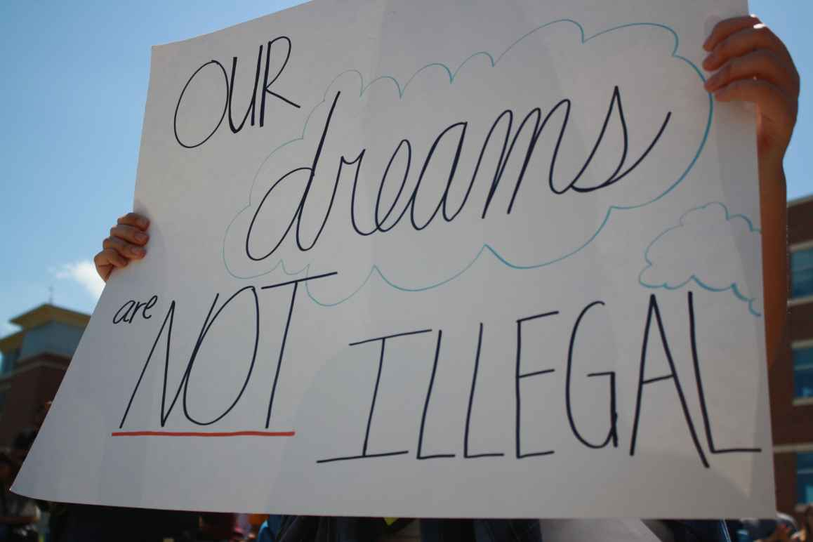 Our dreams are not illegal sign