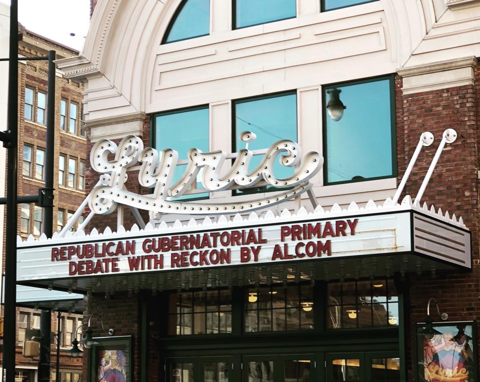 lyric theatre marquee before debate