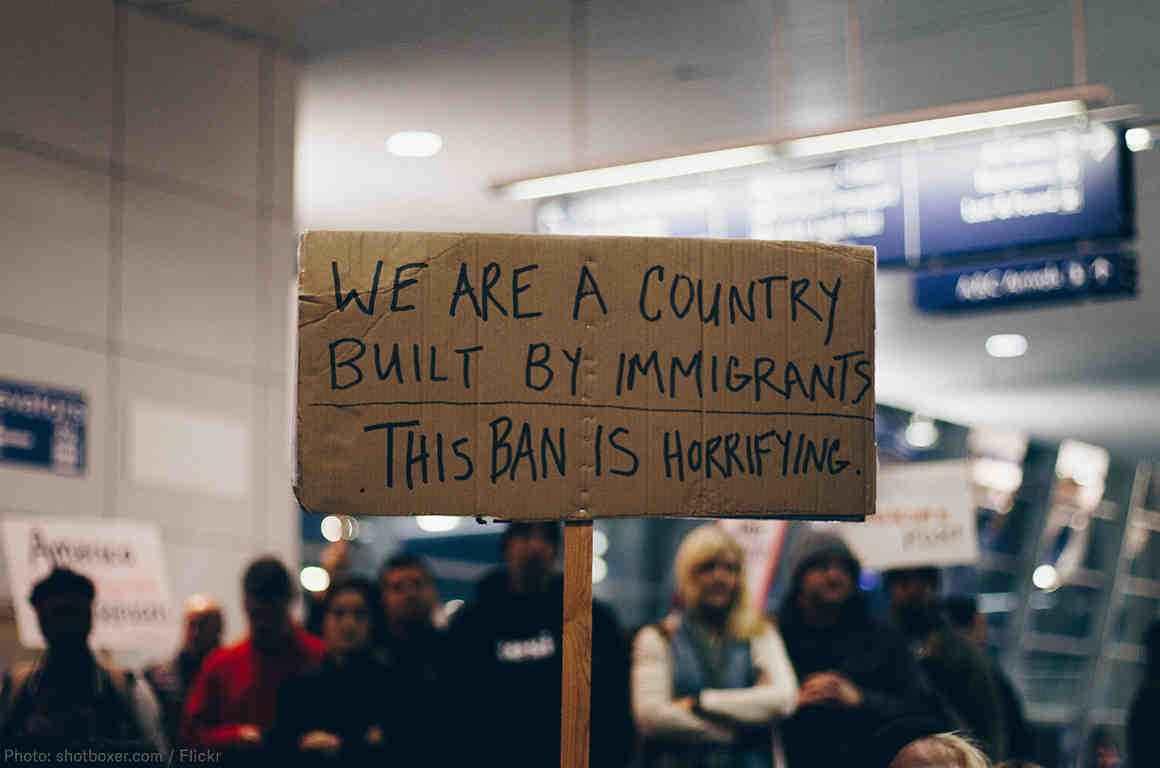 muslim ban sign