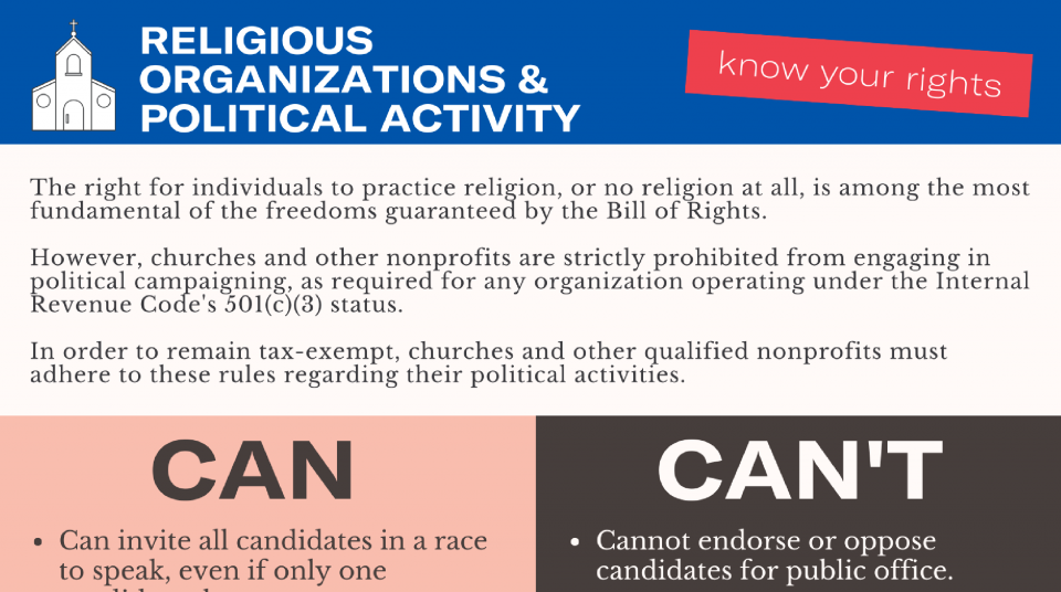 In Order To Remain Tax Exempt Churches And Other Qualified Nonprofits Must Adhere To These Rules Regarding Their Political Activities
