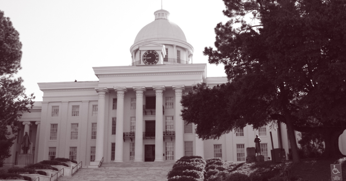 A picture of the Alabama Capitol.